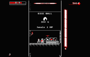 An example of the shop in downwell.