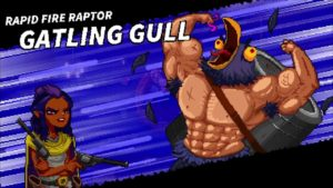 A title card for the Gatling Gull boss fight.