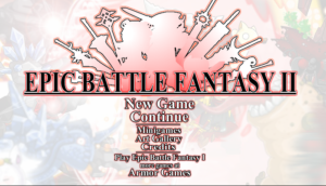 The Epic Battle Fantasy 2 title screen