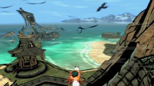 Amaterasu takes in the beach-side view