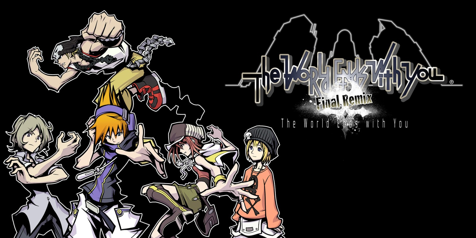The main logo and characters of The World Ends With You