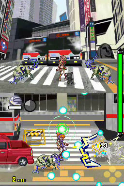 An image showing off the two-screen functionality of the original version of The World Ends With You